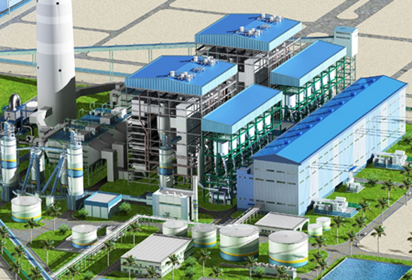 Thi công Nhà máy Nhiệt điện Mông Dương1